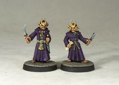 ME6a – Dragon Cultists I (2) - Otherworld Miniatures