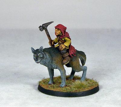 GB10 – Goblin Wolfrider Champion - Otherworld Miniatures