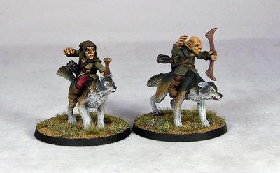 GB7 – Goblin Wolfriders III (2) - Goblins - Otherworld Miniatures
