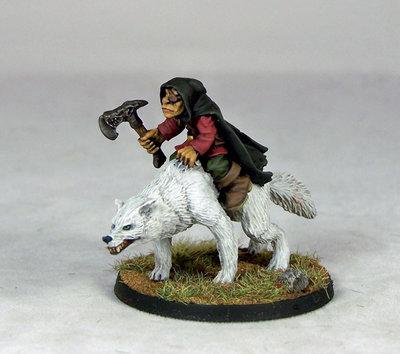 GB9 – Goblin Wolfrider Chieftain - Otherworld Miniatures