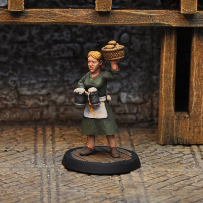 NPCT4 – Serving Wench II - Otherworld Miniatures