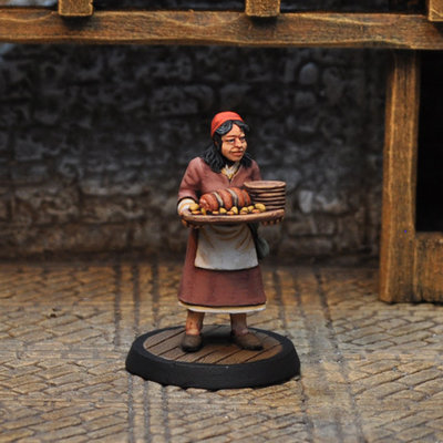 NPCT3 – Serving Wench I - Otherworld Miniatures