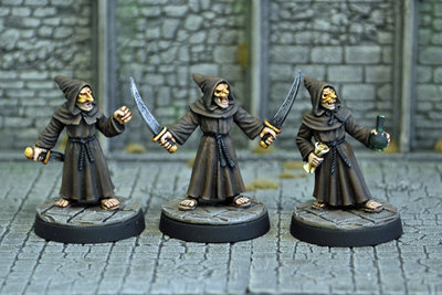 ME2c – Evil Acolytes III (3) - Otherworld Miniatures