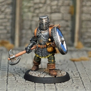 DAH1b – Human Male Fighter v2 - Otherworld Miniatures