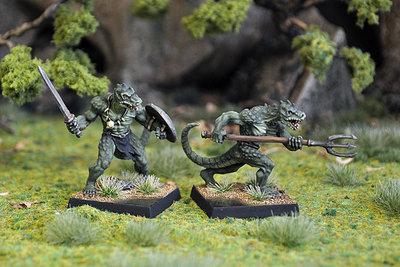 WE5a – Lizardman Warriors I (2) - Otherworld Miniatures