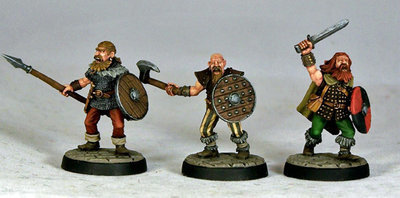 ME1a – Berserkers I (3) - Otherworld Miniatures