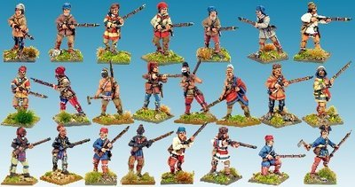 French Wilderness Force - Muskets and Tomahawks - North Star Figures
