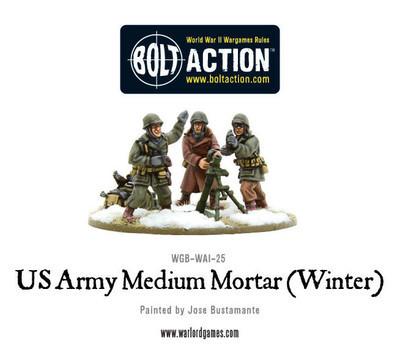 US Army Medium Mortar (Winter) - Bolt Action - Warlord Games