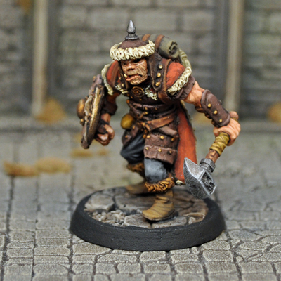 DAD9 – Male Half-orc Fighter/Cleric - Otherworld Miniatures