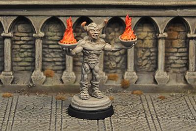 DF5b – Demon Statue, inanimate v2 - Otherworld Miniatures
