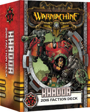 Khador 2016 Faction Deck - Kartenset - Fraktionsdeck - Warmachine - Privateer Press
