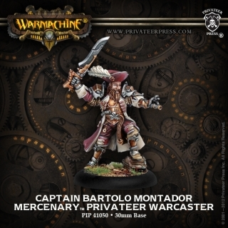 Mercenary Warcaster - Captain Bartolo Montador Blister Söldner - Solo - Warmachine - Privateer Press