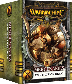 Söldner  Mercenaries 2016 Faction Deck - Kartenset - Fraktionsdeck - Warmachine - Privateer Press