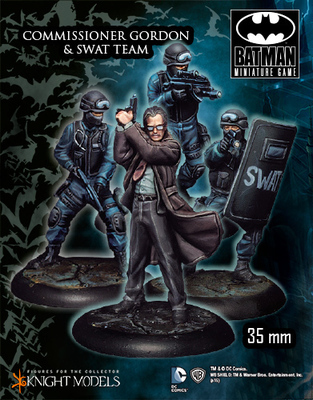 Commissioner Gordon & Swat Team - Batman Miniature Game