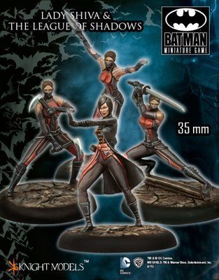 Lady Shiva and League of Shadows - Batman Miniature Game - Knight Models
