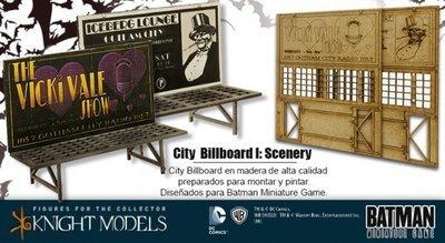 City Billboards Set 1 - Batman Miniature Game