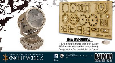Batsignal Objective Game Markers - Batman Miniature Game