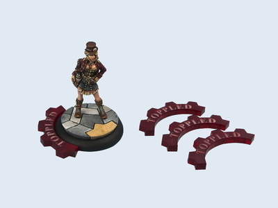 Wolsung Toppled Tokens (4) - Marker - Wolsung