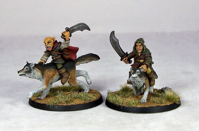 GB8 – Goblin Wolfriders IV (2) - Goblins - Otherworld Miniatures