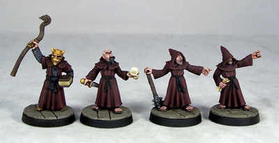 ME2a – Evil Acolytes I (3) - Otherworld Miniatures