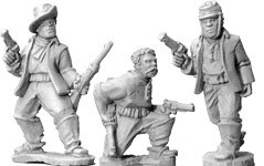 Buffalo Soldiers with Pistols (foot) - Wild West - Artizan Designs