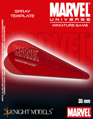 Marvel Universe Spray Templates - Marvel Universe Miniature Game