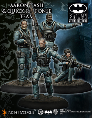Aaron Cash and Quick Response Team - Batman Miniature Game