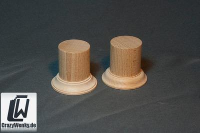 Holzsockel Rund Ø40mm (55mm Höhe) - CrazyWenky