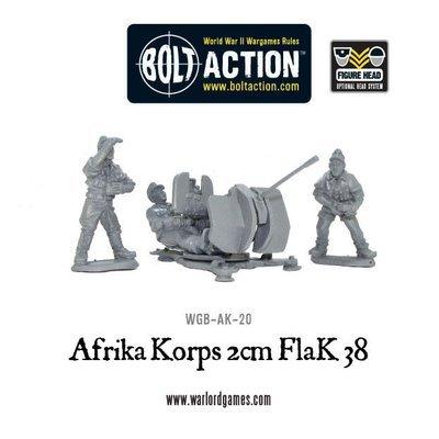 Afrika Korps 2cm Flak 38 - Bolt Action - Warlord Games
