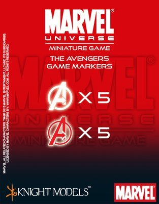 Avengers Markers - Marvel Universe Miniature Game