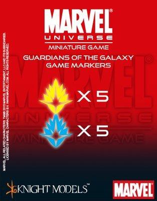 Guardians Of The Galaxi Markers - Marvel Universe Miniature Game