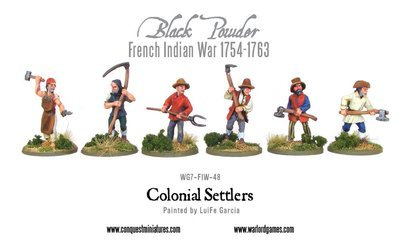 French Indian War - Colonial Settlers - Black Powder - Warlord Games