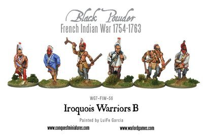 French Indian War - Iroquois Warriors - Black Powder - Warlord Games