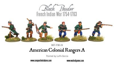 French Indian War - Rangers (6) - Black Powder - Warlord Games