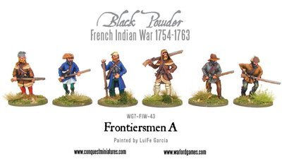 French Indian War - Frontiersmen - Black Powder - Warlord Games