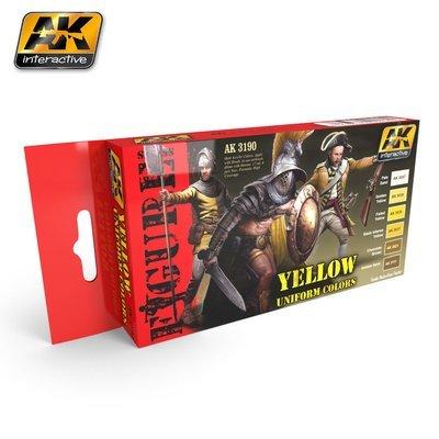 Yellow Uniform Colors - Farbset - AK Interactive