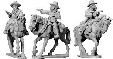 7th Cavalry w/ Pistols (Mounted) - Wild West - Artizan Designs