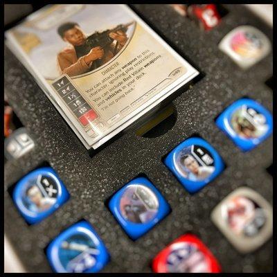 Schaumstoffeinlage für 24 Star Wars Destiny Würfel, Karten und Token - Feldherr