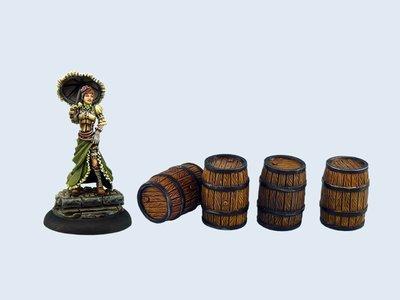 Medium Wooden Barrels (4) - Wolsung