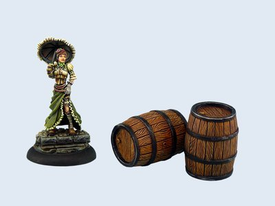 Large Wooden Barrels (2) - Wolsung