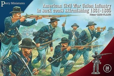 American Civil War Union Infantry in sack coats skirmishing 1861-65 - Perry Miniatures