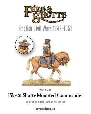 Pike & Shotte Mounted Commander - Pike & Shotte - Warlord Games