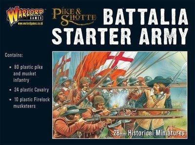 P&S Battalia Starter Army Box (80 Inf, 24 Cav, 10 Firelocks) - Pike & Shotte - Warlord Games