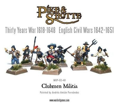 Clubmen militia - Pike & Shotte - Warlord Games