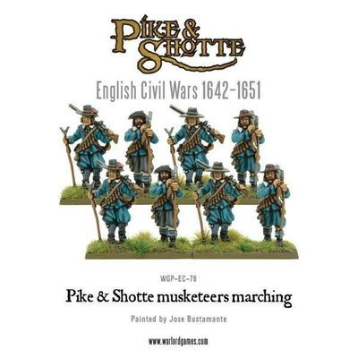 Pike & Shotte musketeers marching column - Pike & Shotte - Warlord Games