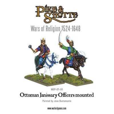 Ottoman Janissary Officers mounted - Pike & Shotte - Warlord Games