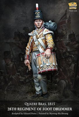 Quatre Bras, 1815 28th Regiment of foot drummer - Nutsplanet