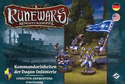 Runewars Miniaturenspiel - Kommandoeinheiten der Daqan-Infanterie DEUTSCH / ENGLISCH