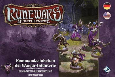 Runewars Miniaturenspiel - Kommandoeinheiten der Waiqar-Infanterie Erweiterung DEUTSCH / ENGLISCH