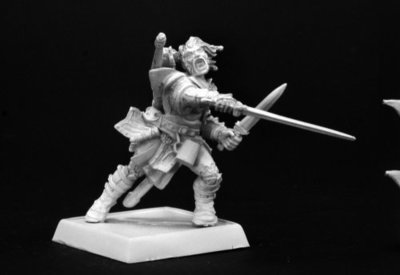 Valeros, Iconic Male Human Fighter - Pathfinder Miniatures - Reaper Miniatures